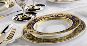 In the 15th century, porcelain began to be imported from China in larger quantities but was still rather expensive, considering its counter value in gold.